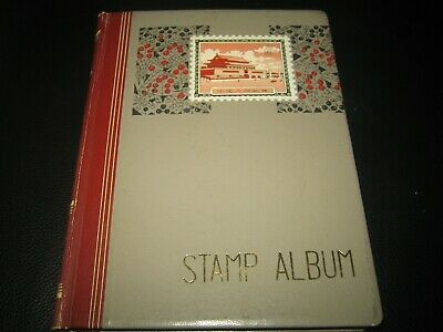 british & commonwealth stamps in stamp album / stock book