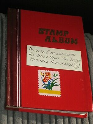 british & commonwealth stamps in stock book / stamp album all mint (5)