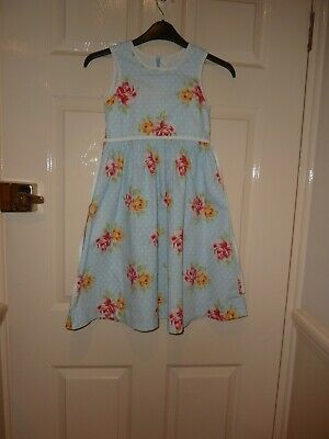 Lovely Mini Boden girls floral Summer dress, size 7 - 8 years.  100% cotton.