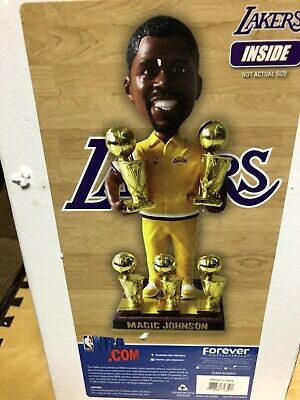MAGIC JOHNSON Los Angeles Lakers 5X NBA Champion In His Warm-Up Suit Bobblehead