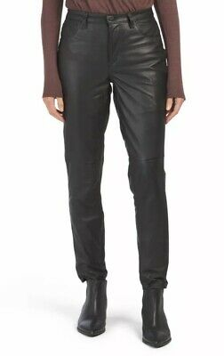 $398 BLANK NYC Womens Pants Size 28 Black Leather Skinny High Rise Jean