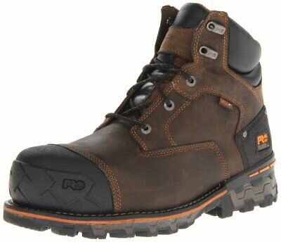 """Timberland PRO Men's Boondock 6"""" Waterproof Non-Insulated Work Boot Color BROWN"""