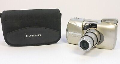 Olympus Stylus 120 AF Point & Shoot 35mm Film Camera 38-120mm Zoom TESTED WORKS
