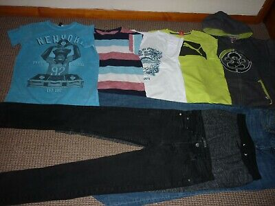 Bundle Boys Clothes age 13-14yrs  Jeans  Joggers  Tops  Hoodie  Puma  Saltrock