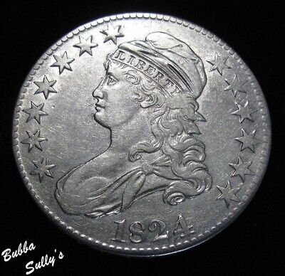 1824 Capped Bust Half Dollar <> EXTREMELY FINE