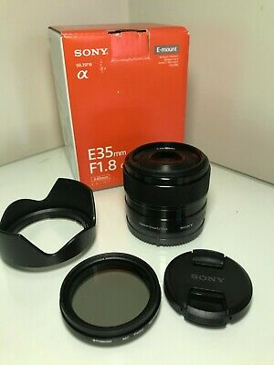 SONY SEL35F18 35mm f/1.8 OSS Lens with a 49mm Variable Neutral Filter to fit