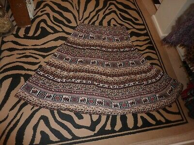 Ladies Cotton Traders size Uk 20 lovely, long, ethnic printed skirt.  Summer.