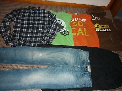 Bundle Boys Clothes age 14-15yrs Holister Next Topman Jeans Tops Hoodie Shirt