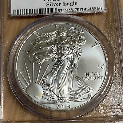 2014-(S) $1 Silver American Eagle PCGS MS70 First Strike - 860