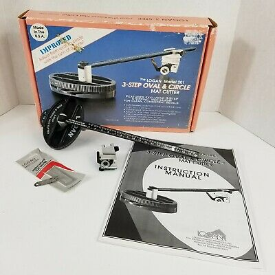 Logan 3-Step Oval And Circle Mat Cutter Model 201 With Box Made In USA