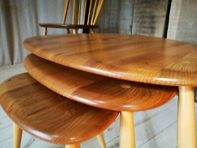 Simply Ercol Guild of Master Craftsmen Outstanding Ercol Pebble Nest Of Tables