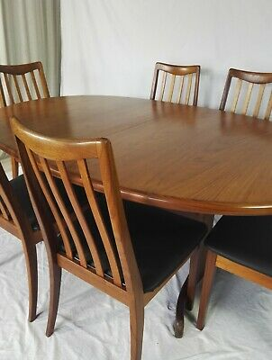 G Plan Table & Six Re Upholstered Chairs Simply Ercol Guild of Master Craftsmen