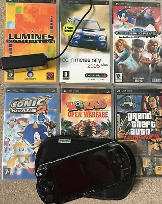 Sony PSP Bundle - Console, Games, Soft Case And Charger. Free Delivery