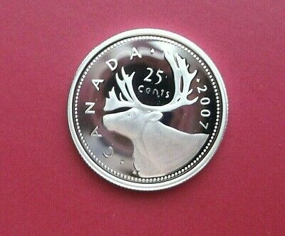 2007 Canada 25 Cent Sterling Silver Proof Coin-Ultra Heavy Cameo
