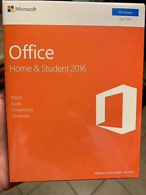 Microsoft Office Home and Student 2016 Windows English Word Excel 79G-04597 NEW