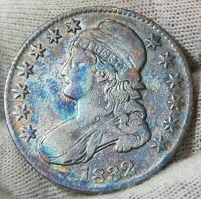 1832 50c Capped Bust Silver Half  Dollar Toned   #022432