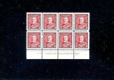 Lot 82204 Mint Nh 219 Plate 4 Block King George V Pictorial Issue Canada