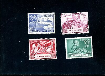 Lot 81997 Mint H 95 - 98  St Kitts - Nevis  1949 Upu Issue British Commonwealth