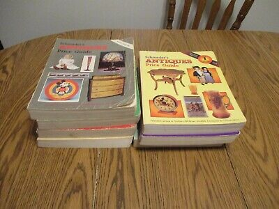 Schroeder's Antiques Price Guide Lot Of 7 1983 88 89 87 91 92 93 Reference Book