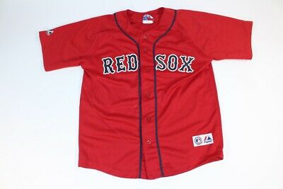 Kids Youth Boys Redsox Boston Red Sox Mike Lowell Red Jersey Majestic 10 12