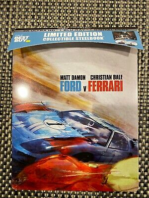 Ford vs. Ferrari 4K Ultra HD Bestbuy Exclusive Steelbook