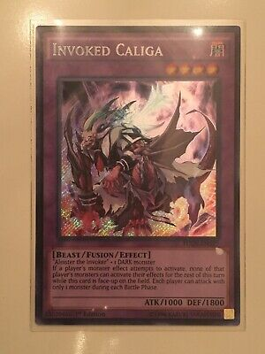 Yugioh - FUEN-EN027 Invoked Caliga – Secret Rare - 1st Edition Card