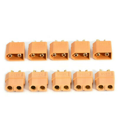 Lots 10pcs Male & Female XT60 Bullet Connector Plug ESC For RC Lipo Battery Q8