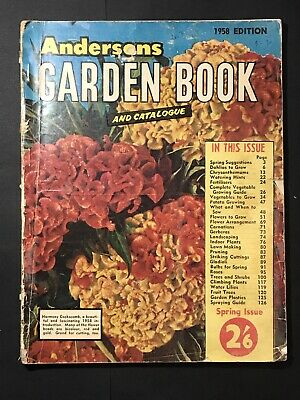 Vintage Magazine ANDERSONS GARDEN BOOK & CATALOGUE 1958 Edition Gardening Guide