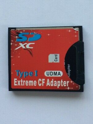 SD SDHC  SDXC To CF Compact Flash Memory Card Adapter Reader Type 1.