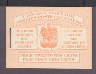 CANADA BOOKLET BK41b Bi TYPE II 1 PANE OF 6 (287b) GEORGE VI 1949-1951 ISSUE #1