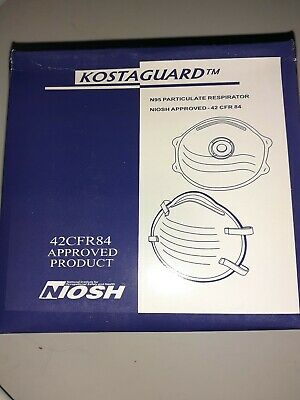 Kostaguard N95 Particulate Respirator Mask NIOSH Approved 42 CFR 84 Box of 20