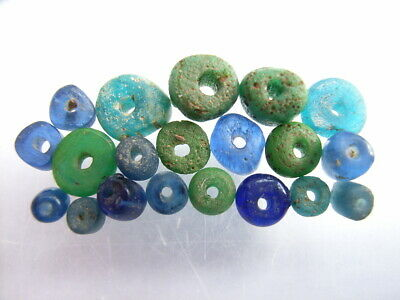 20 Ancient Roman Glass Beads Romans VERY RARE!  TOP !!