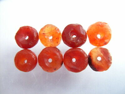 8 Ancient Roman Carnelian Beads Romans VERY RARE!  TOP !!