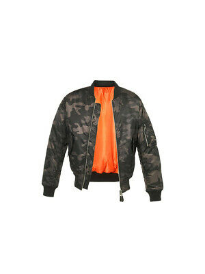 Bombers homme Militaire aviateur MA1 camouflage Nuit XL Camouflage : Nuit