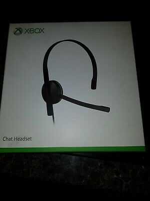Official Genuine Xbox One Chat Headset With Mic Microsoft - Brand New Sealed