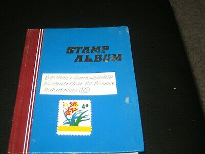british & commonwealth stamps mint + mnh in stock book / stamp album (10)