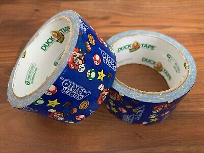 Nintendo Super Mario Bros Duck Brand Duct Tape 1.88 in x 10 yds 2012 lot of 2
