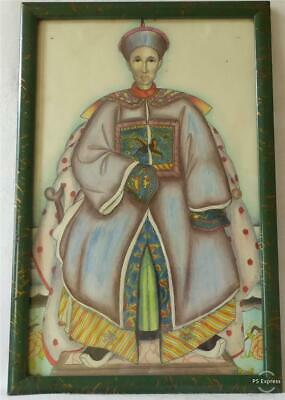 Early/ Mid 20Th Century Finely Painted Portrait Of A Chinese Emperor