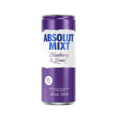 Absolut Mixt Blueberry & Lime, 5%, inkl. Euro 0,25 DPG Pfand/ Dose, 250 ml