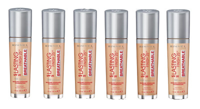 Rimmel Lasting Finish 25HR Breathable Foundation 30ml SPF 20 - Choose your shade