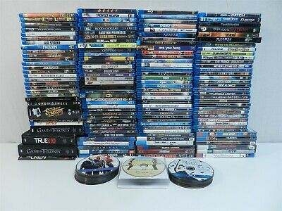 Lot of 185 Blu-Ray Movies- Star Wars, Jurassic Park, Game of Thrones