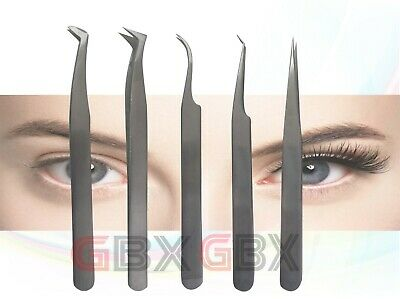 Derby Eyelash Extension Tweezers Swiss Quality Fanning Straight Curve Russian Vo