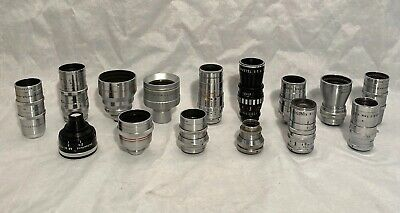 Lot Of 15 Lenses For 8Mm & 16Mm Movie Cameras