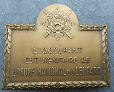 Republique Democratique Du Congo: Ordre National Du Leopard - Plaque