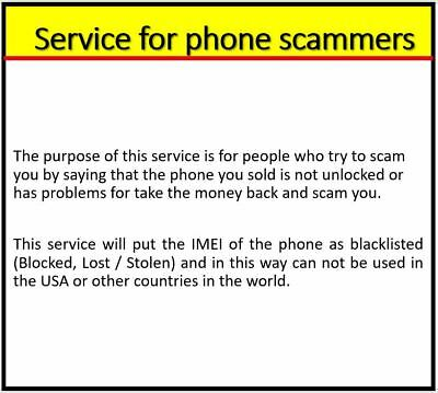 Service For Phone Scammers And Put Phone To Blacklist -  Instant