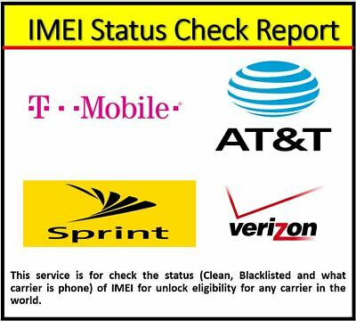 Imei Status Check Report Service For All Carriers (Unlock Eligibility) - 1 Hour