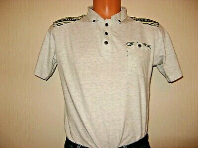 Worn Once Boys Pale Grey Short Sleeve 100% Cotton Fashion Polo T-Shirt Age 14-15