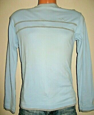 Worn Once Boys Pale Blue Ben Sherman Long Sleeved Cotton Jumper Top Age 13-14-15
