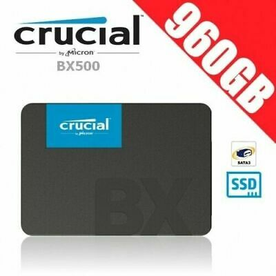 """Crucial BX500 960GB 3D NAND SATA 2.5"""" SSD Memory Solid State Drive PC Laptop Gam"""