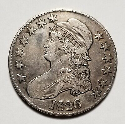 1826 50c United States Capped Bust Half Dollar